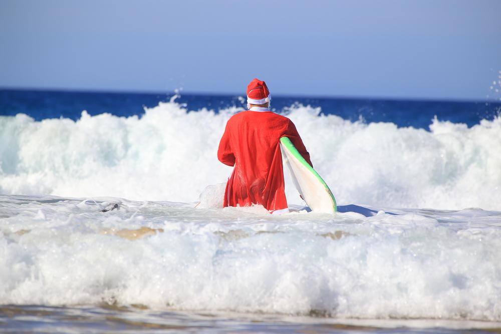 surfujący mikołaj