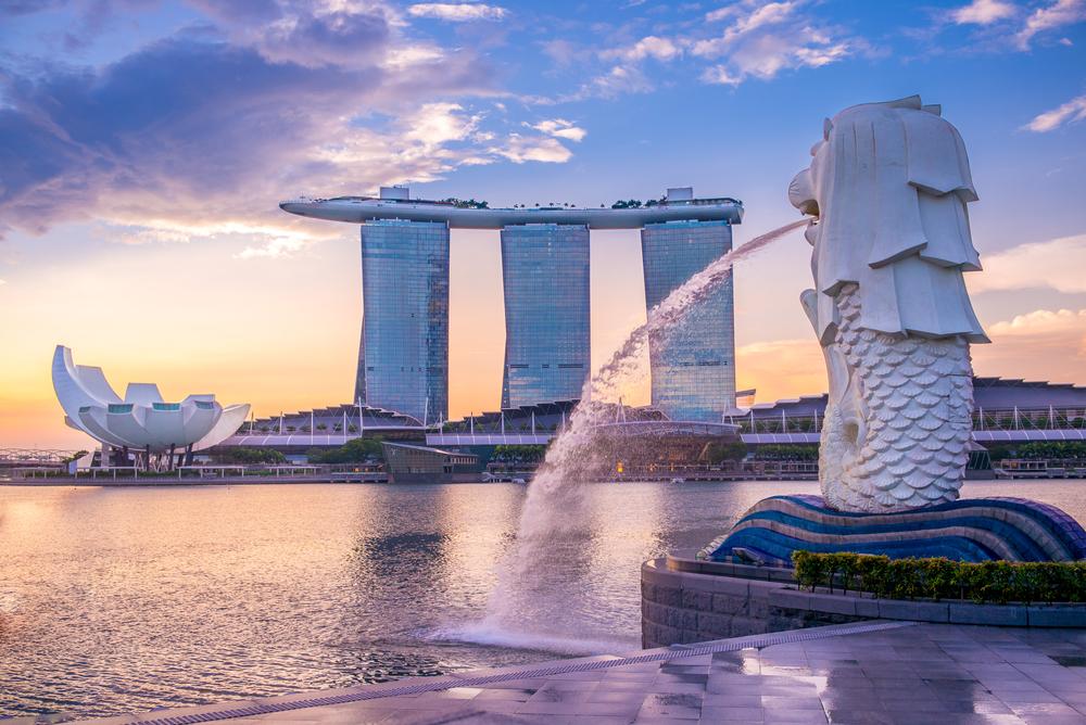 Singapur o zmierzchu