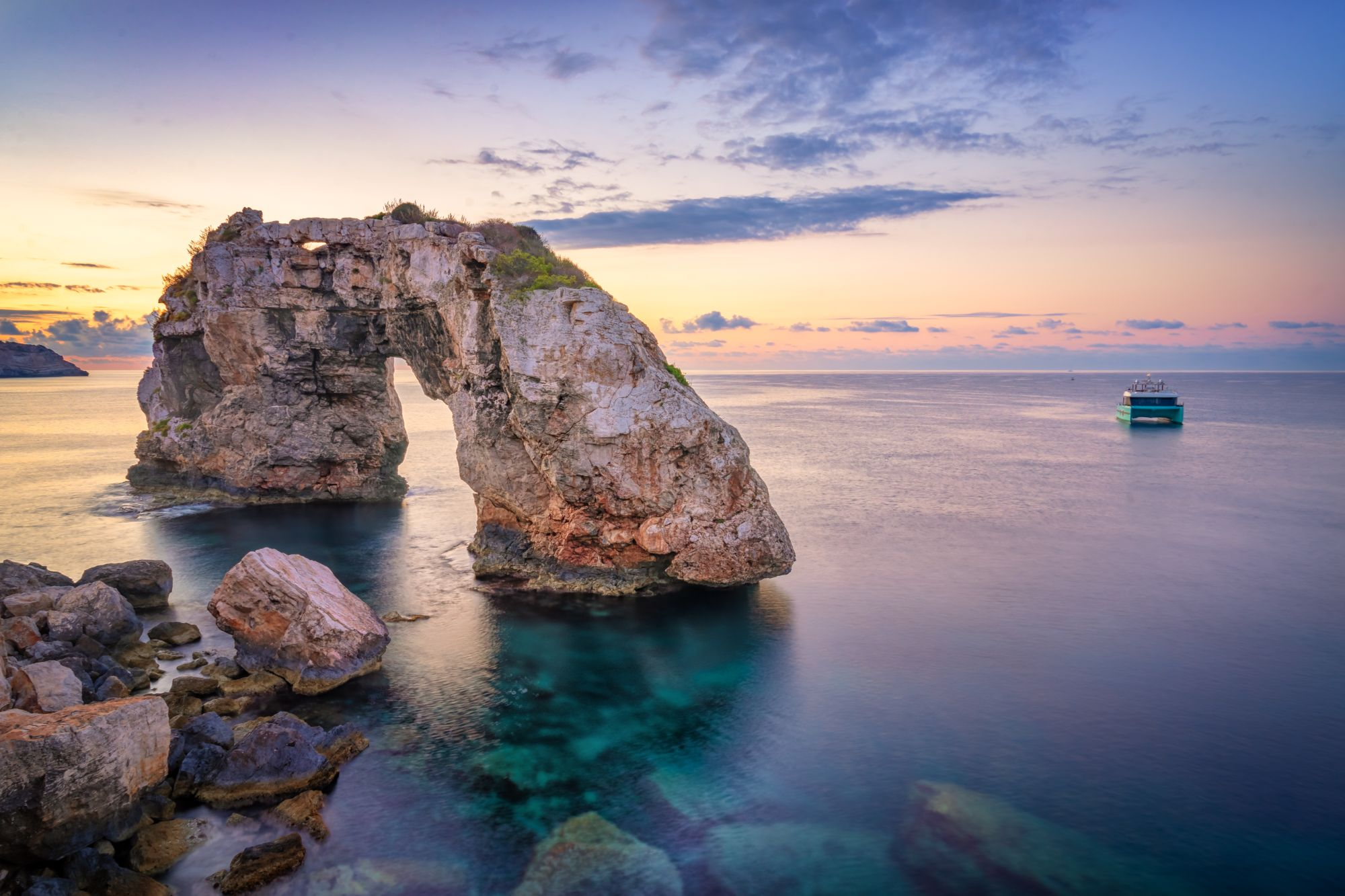 Zachód słońca na Majorce