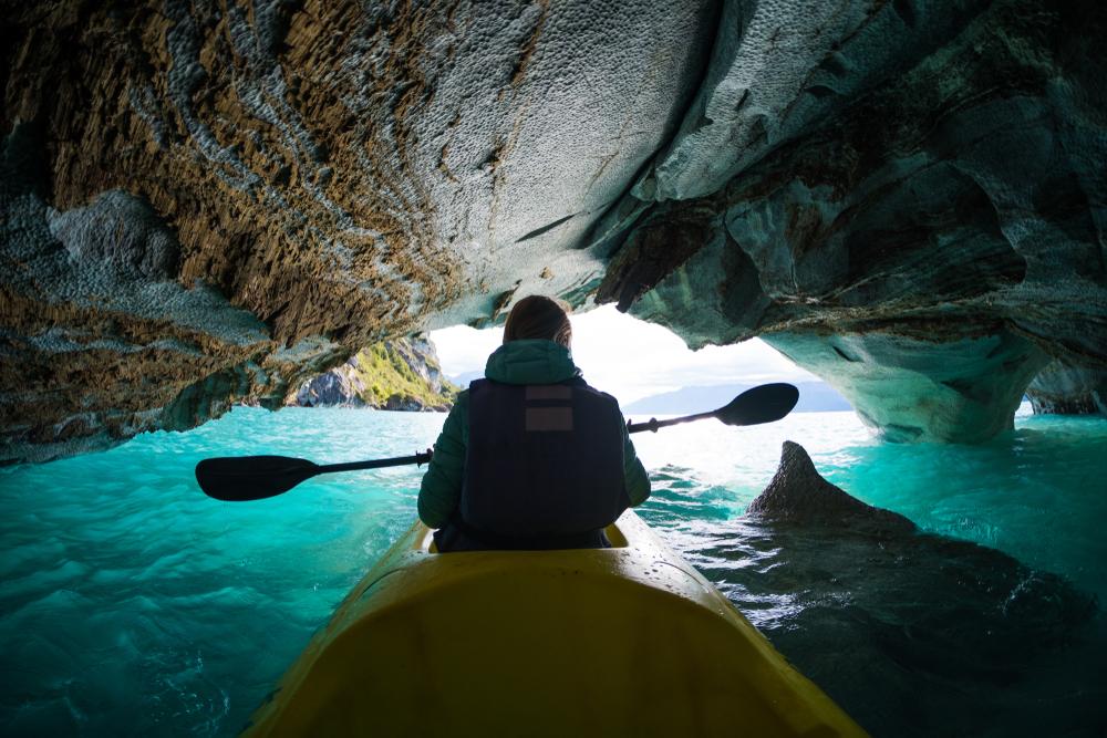 kajak w Patagonii