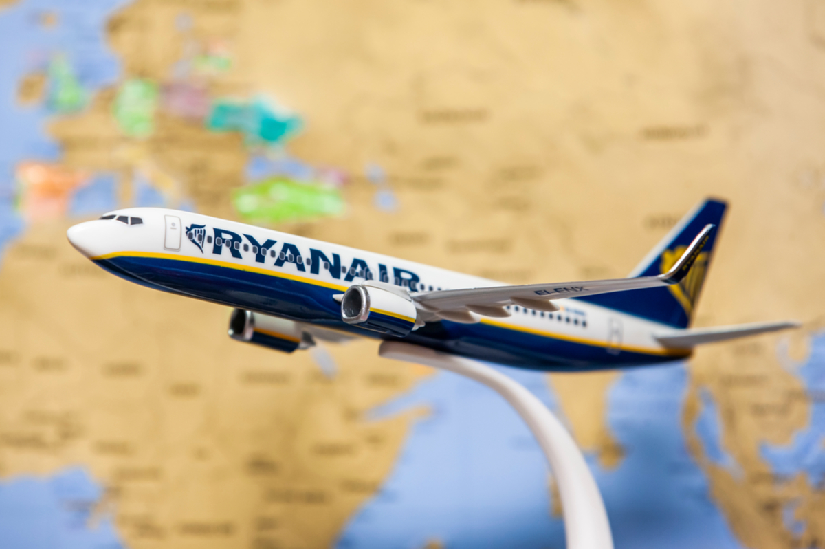 model samolotu Ryanair