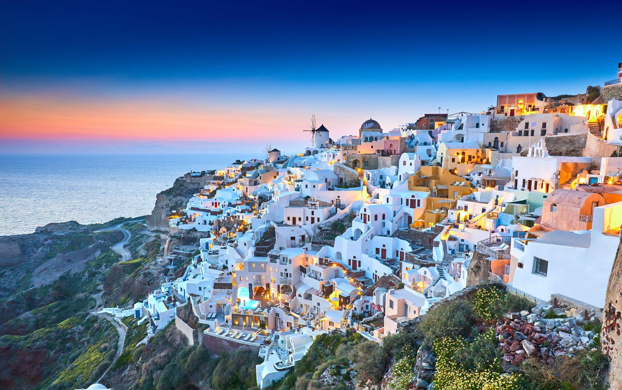 Domki na Santorini