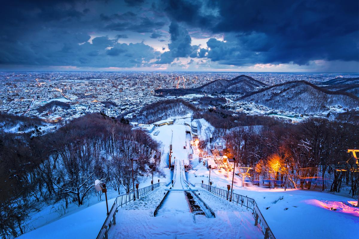 panorama skoczni Sapporo