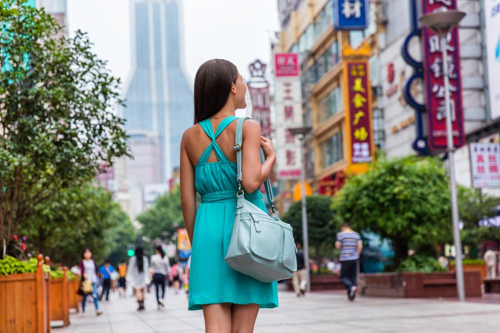 kobieta w Szanghaju