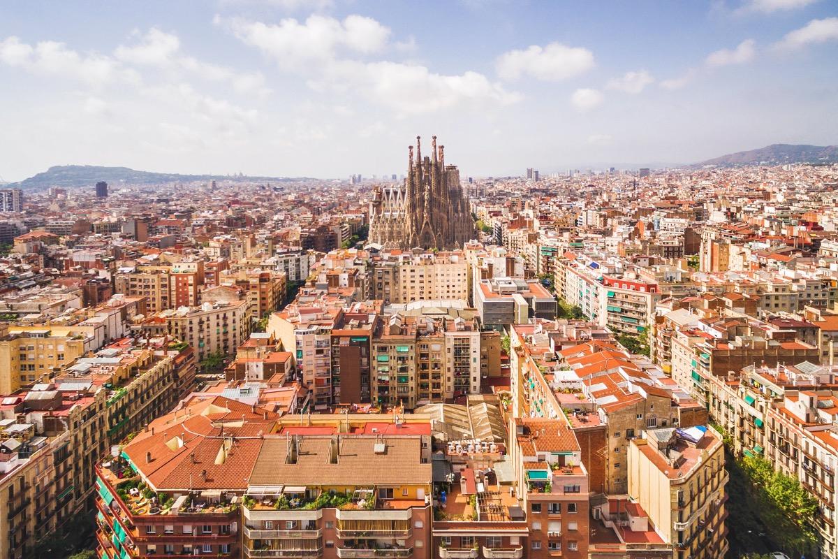 barcelona widok na miasto