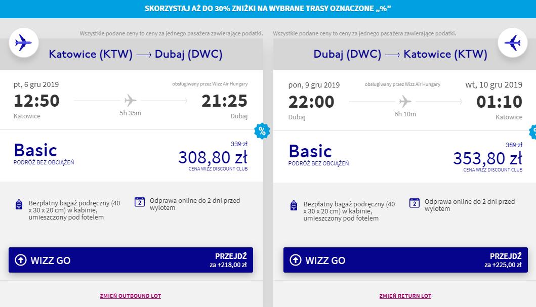 Loty do Dubaju