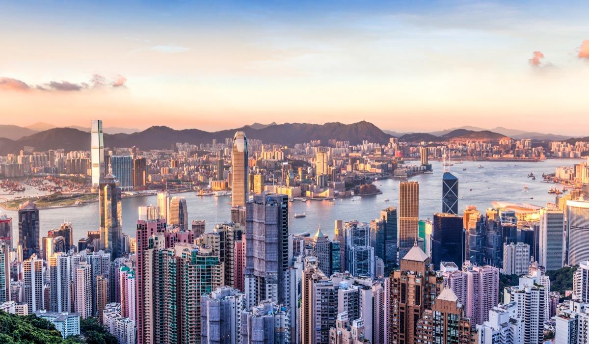 hongkong panorama miasta