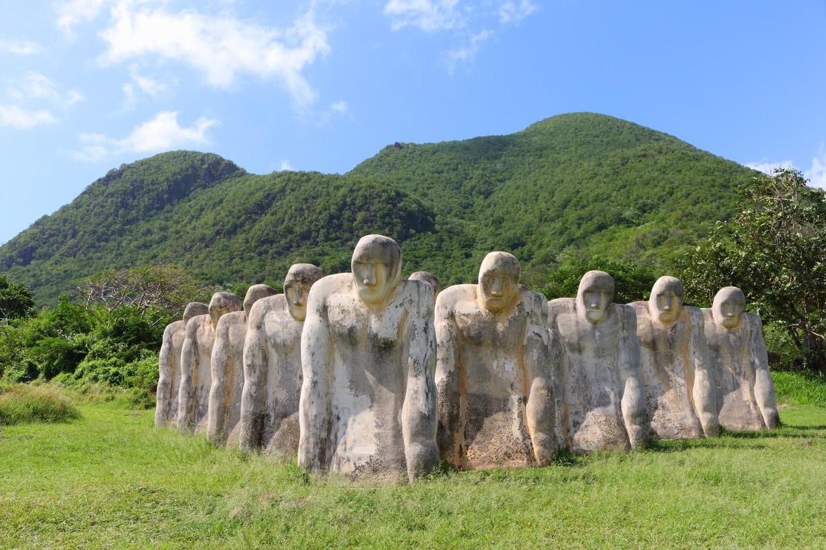 martynika posągi