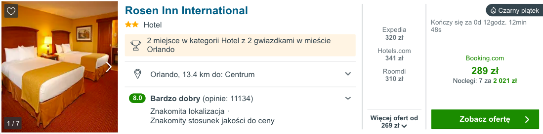 zarezerwuj hotel w orlando