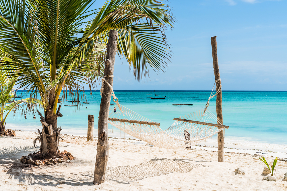 Hamak na plaży