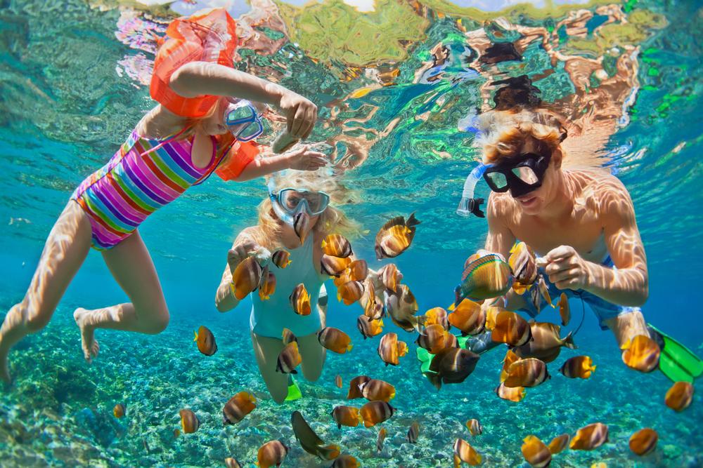 Rodzina pod wodą