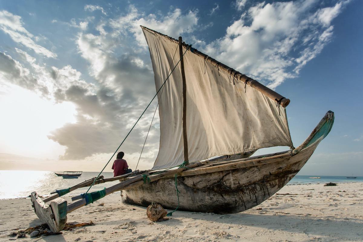łódź na zanzibarze