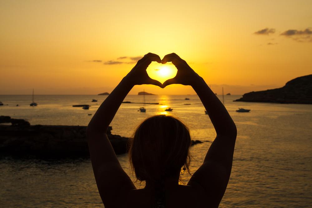 zachód słońca na Ibizie