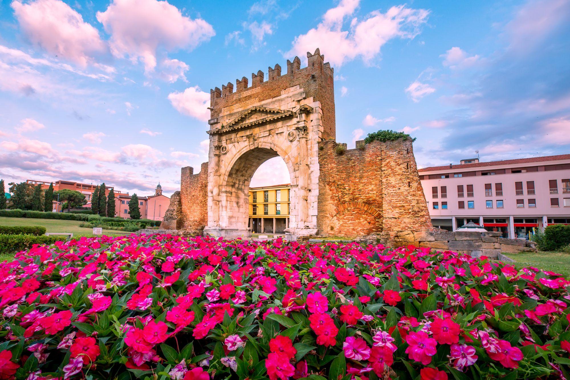 Kwiaty w Rimini