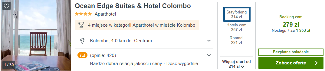 Hotel w Kolombo