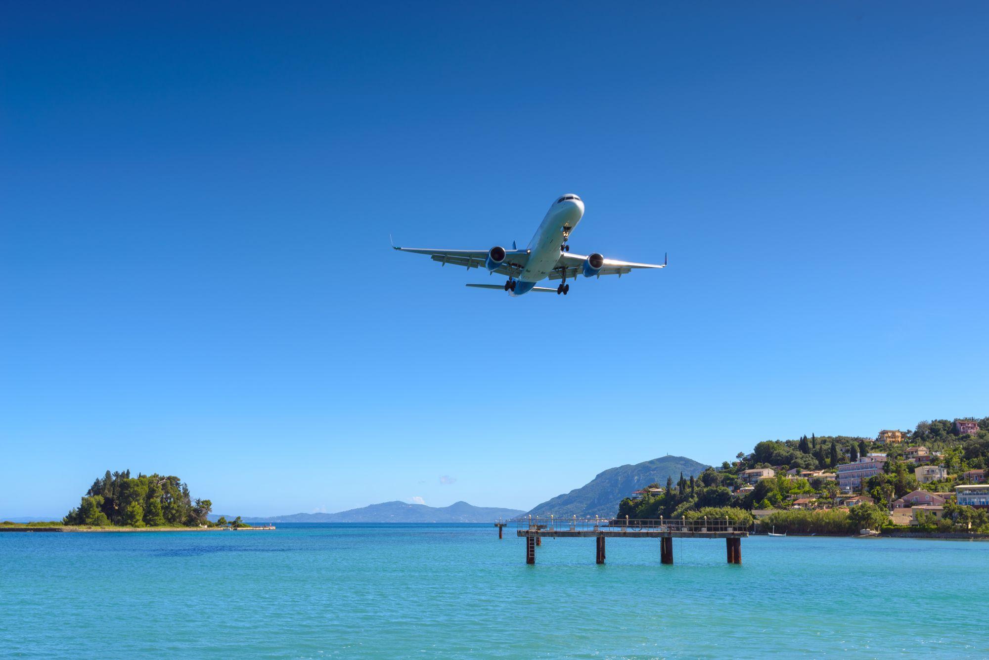 Samolot na Korfu