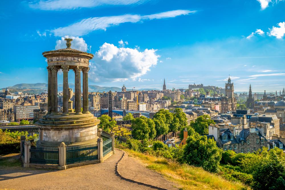 Panorama w Edynburga