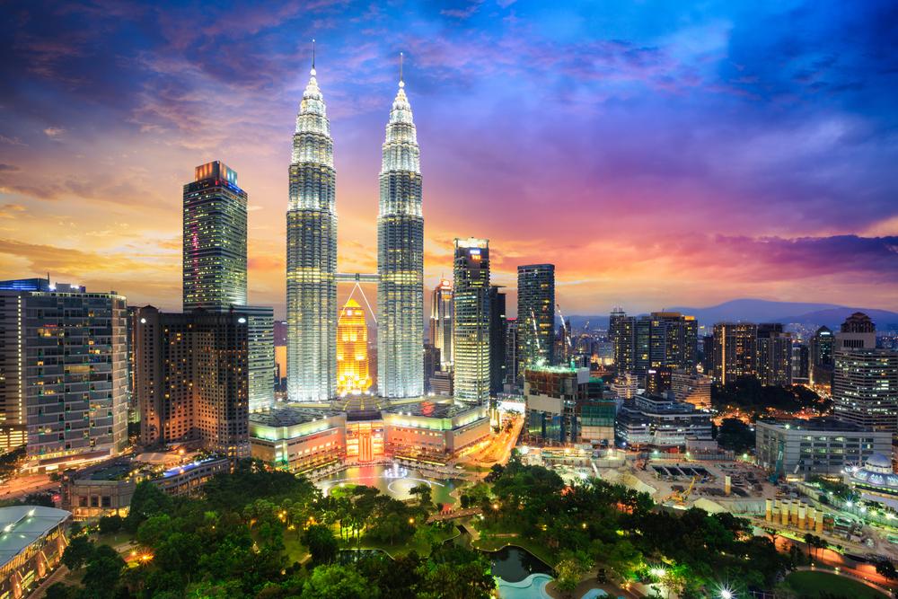 Malezja nocą