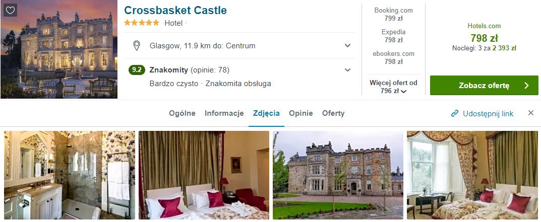 Zamek w Szkocji