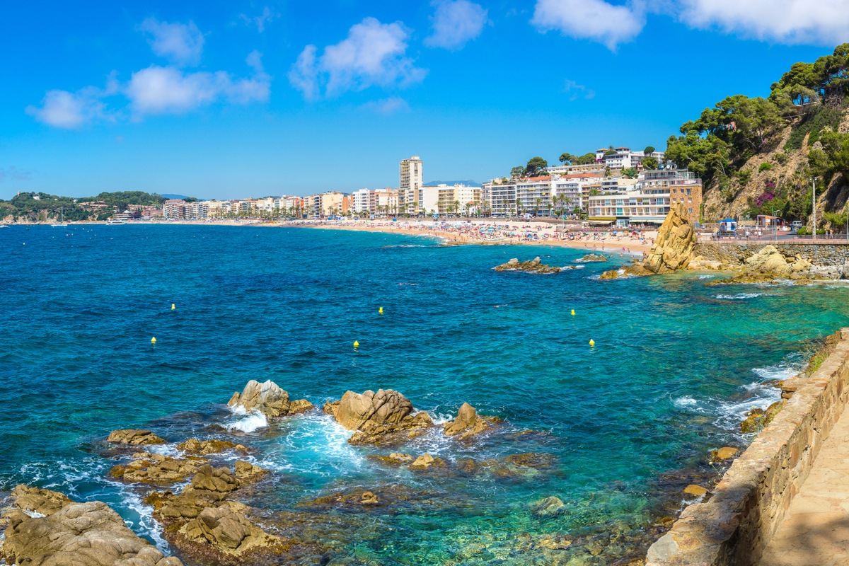 wybrzeże Lloret de Mar