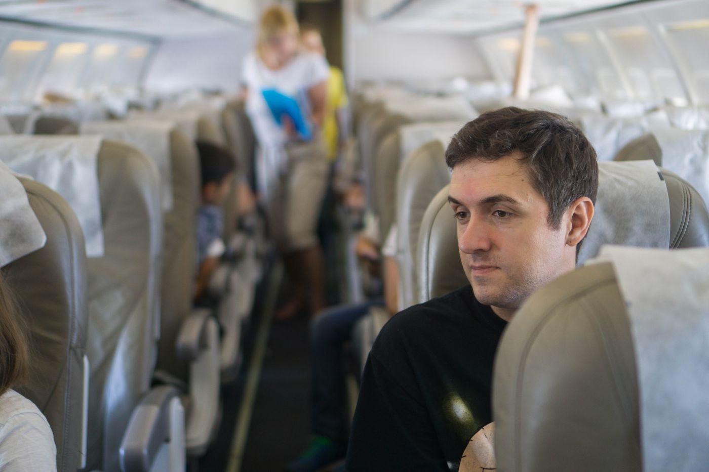 Pasażer w samolocie