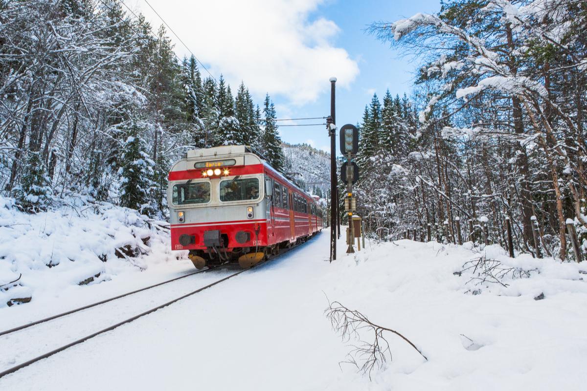 Pociąg relacji Trondheim - Bodo