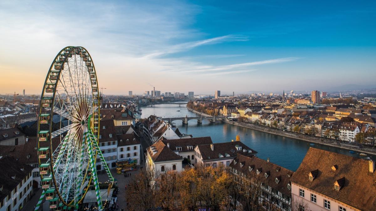bazylea panorama miasta