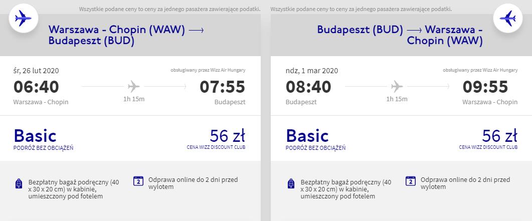 Loty do Budapesztu