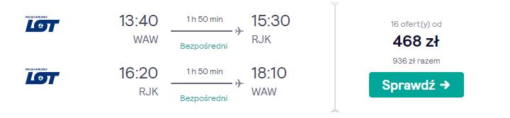 Chorwacja loty
