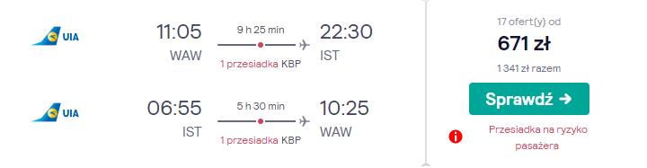 Loty do Stambułu