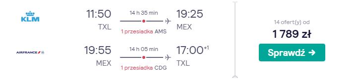 Loty do Meksyku