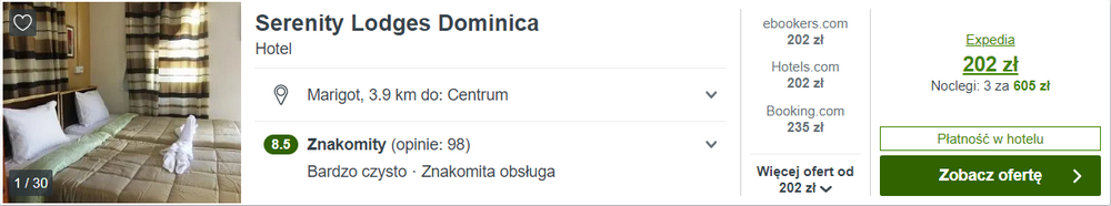 dominika noclegi
