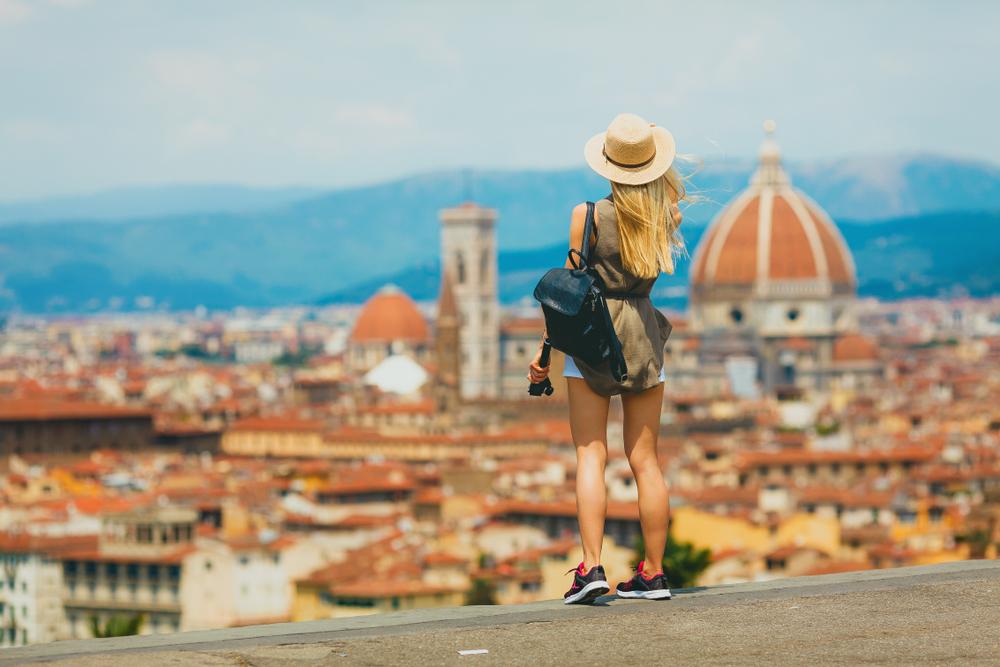 Turystka we Florencji