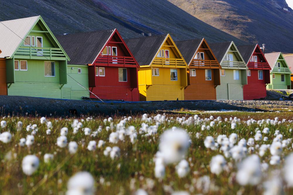 Domki na Svalbardzie