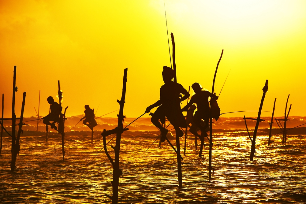 Rybacy nad morzem
