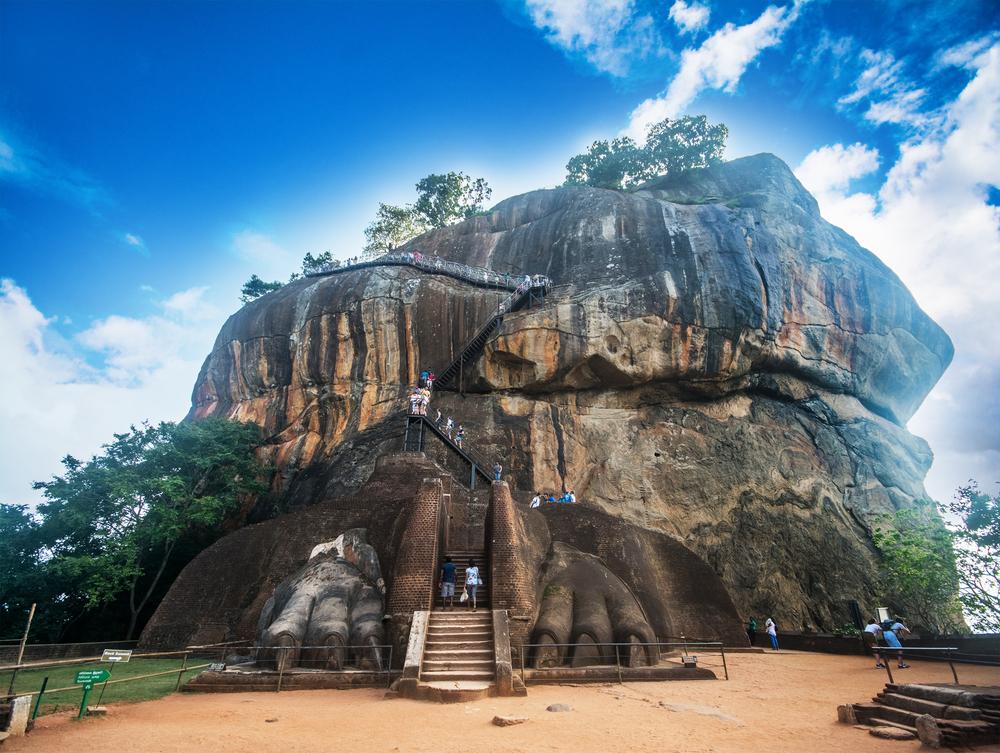 Skała na Sri Lance