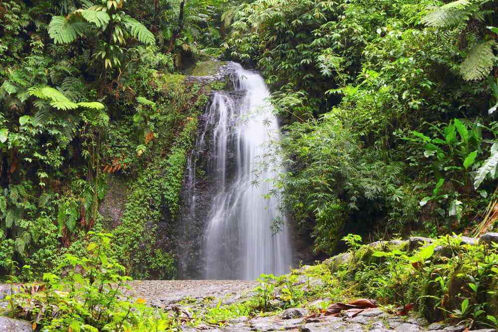 Wodospad na Karaibach