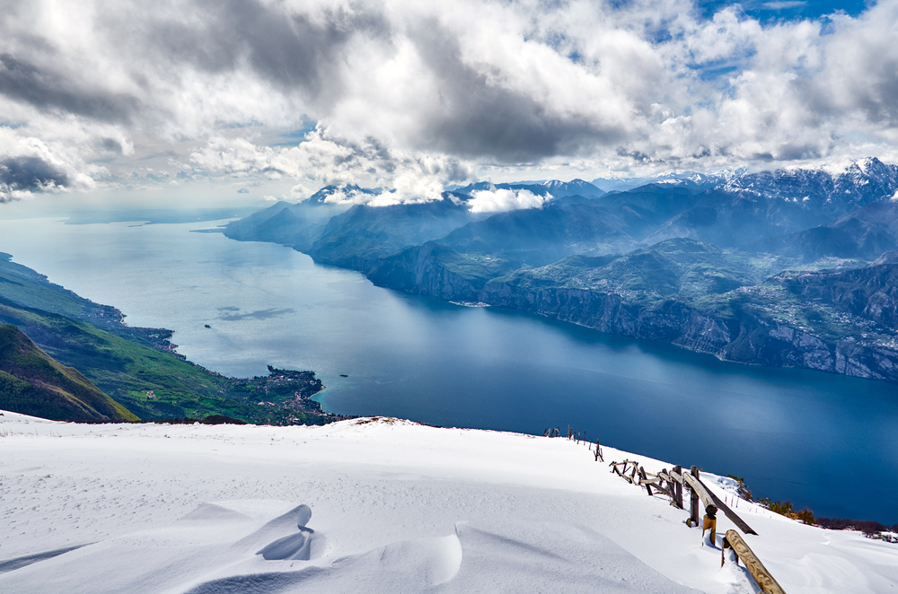 jezioro garda w zimie
