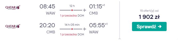 Loty na Sri Lankę