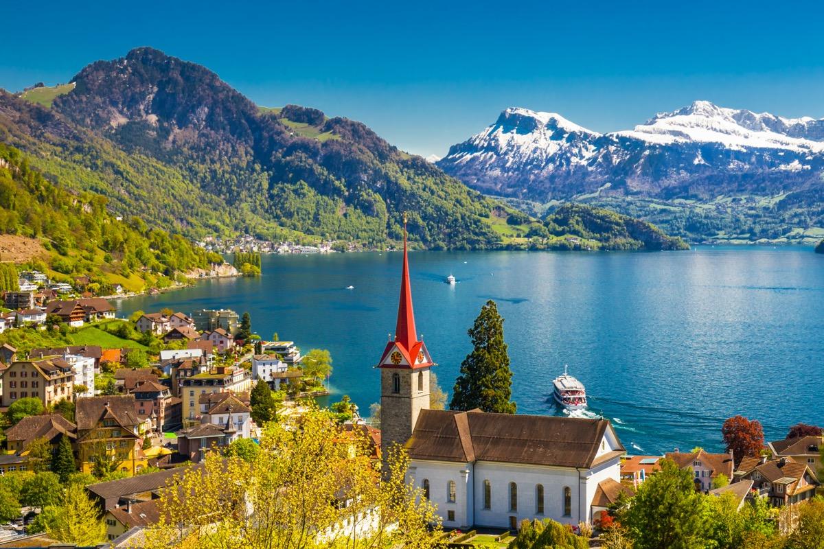 szwajcaria jezioro