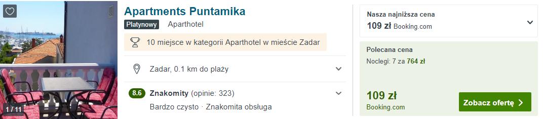 Noclegi w Zadarze