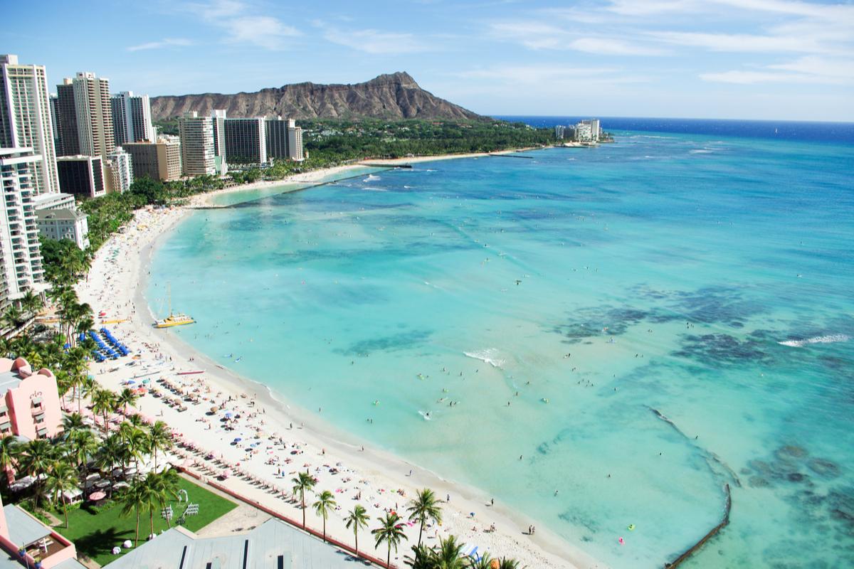 plaża w Honolulu