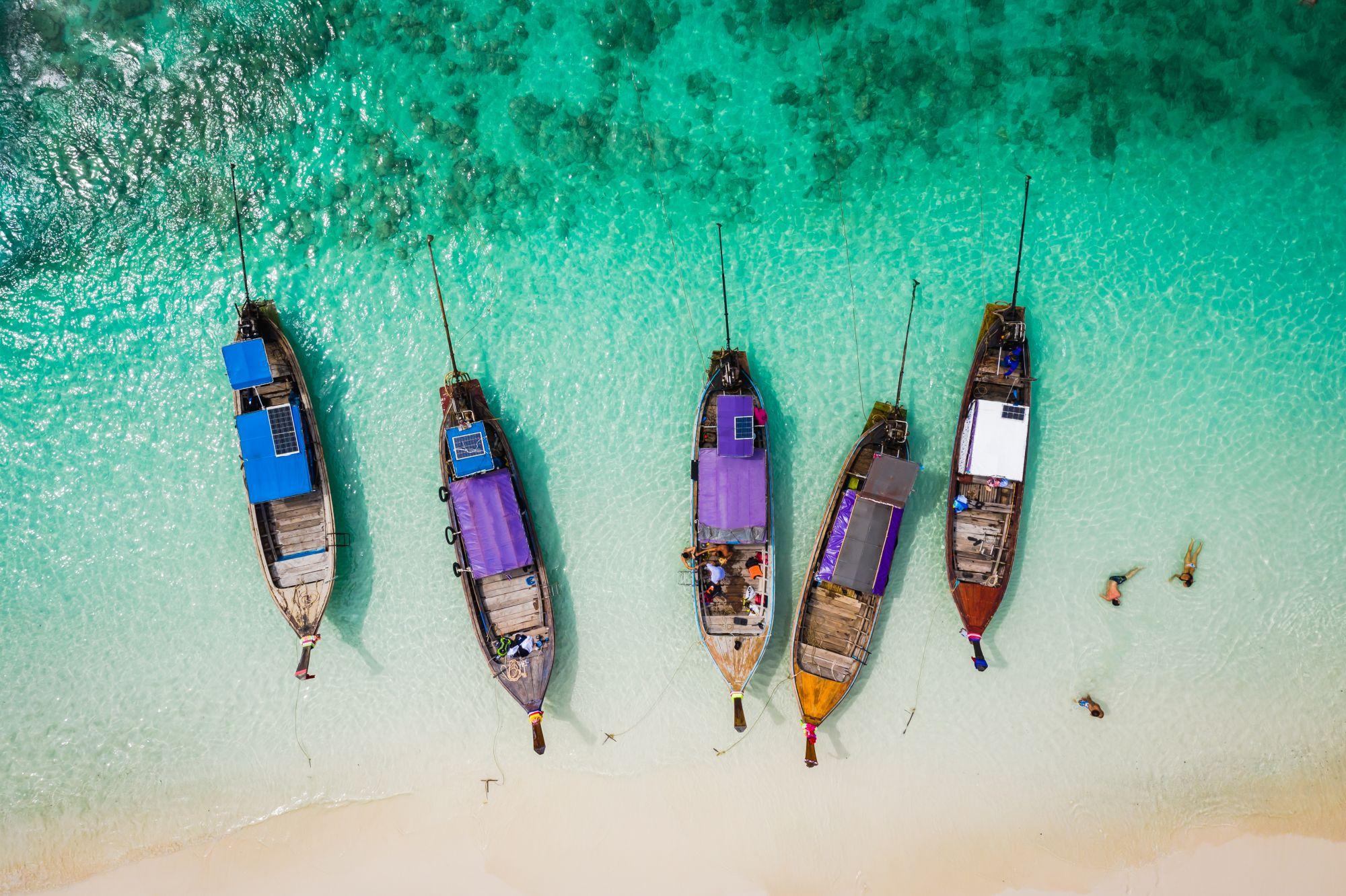Łodzie na Phuket