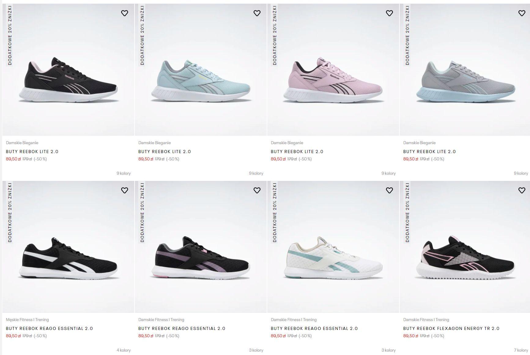 HIT: Mnóstwo butów od Reeboka w cenie od 71,60 PLN (DARMOWA