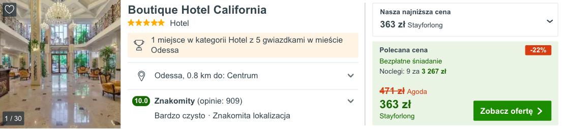 zarezerwuj hotel w odessie