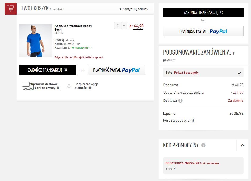 Zamówienie koszulki
