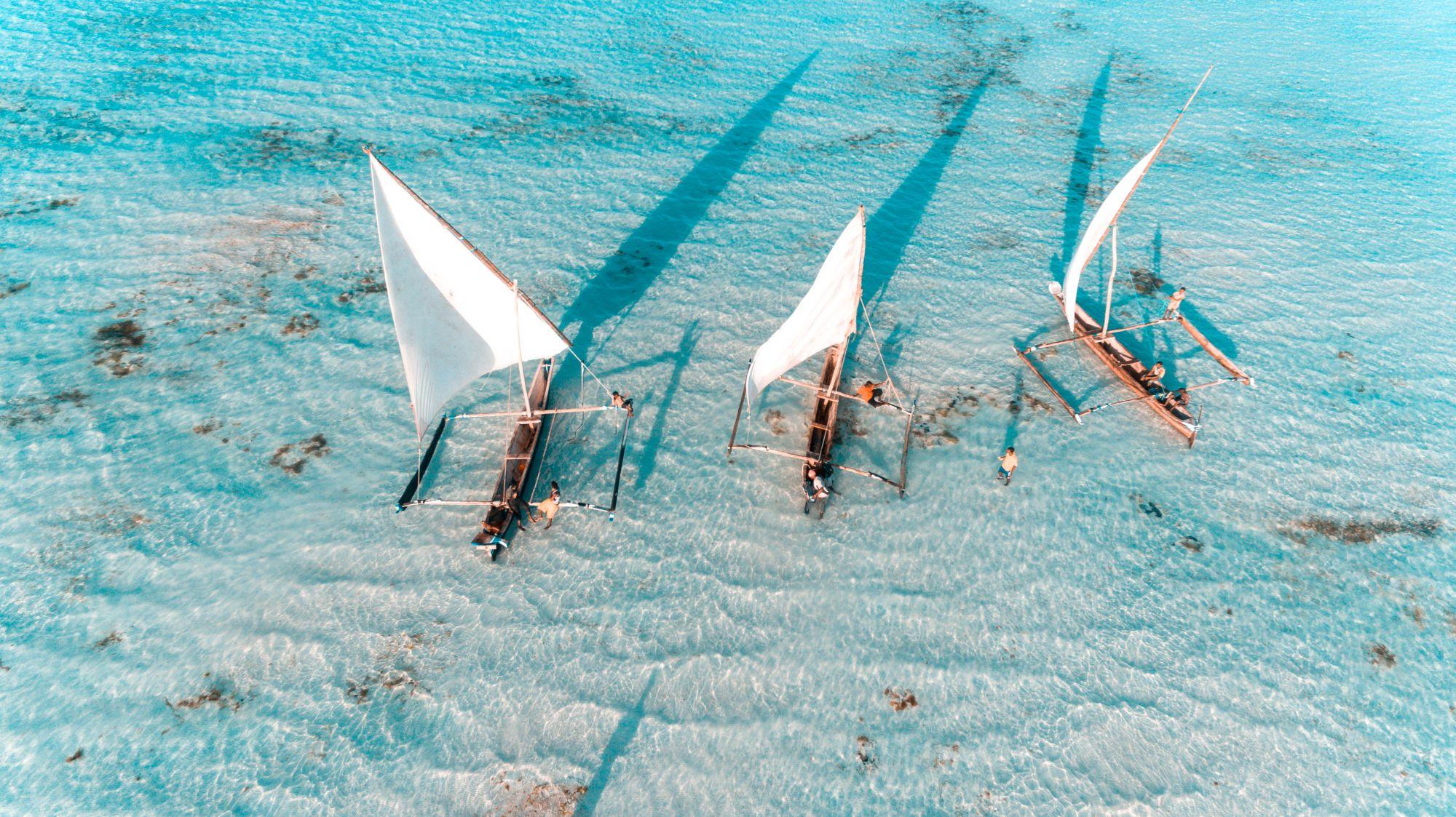 Łodzie na Zanzibarze
