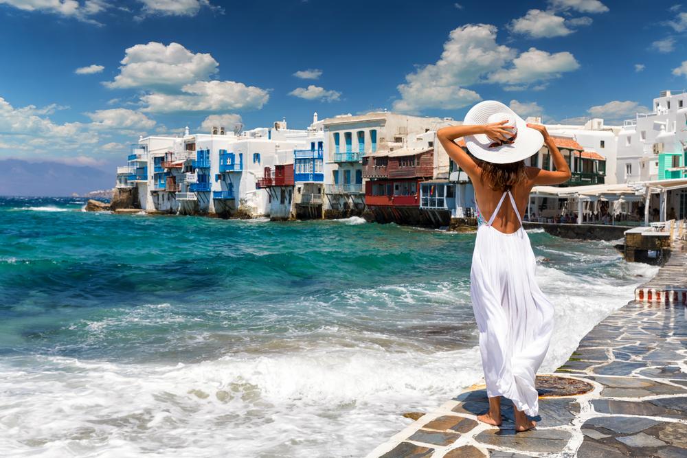 Kobieta na brzegu