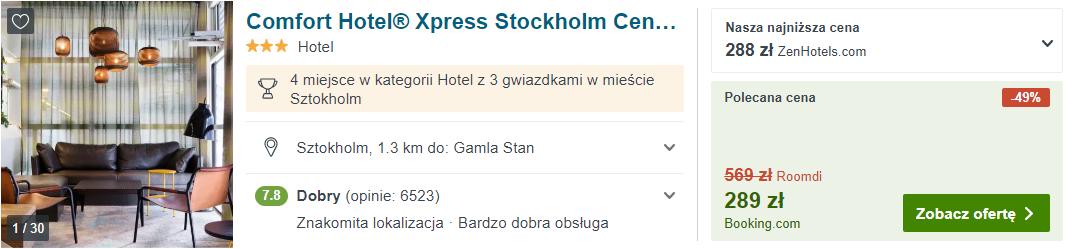 Hotel w Szwecji