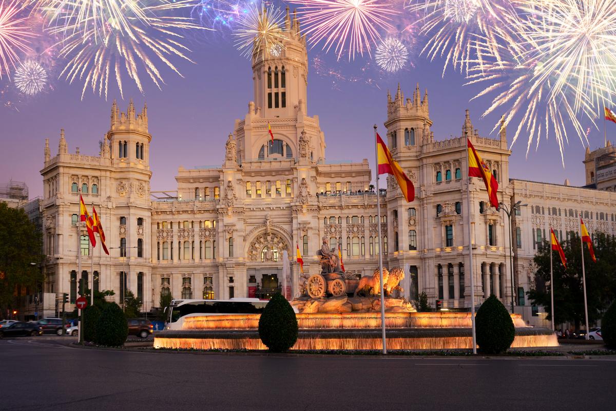 fajerwerki w Madrycie